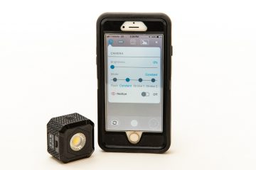 Lume Cube AIR next to iPhone