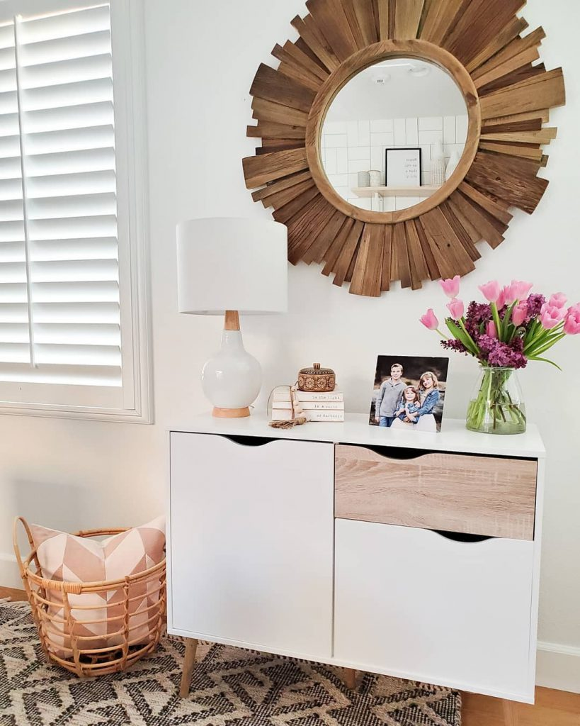 Accent table with a family photo