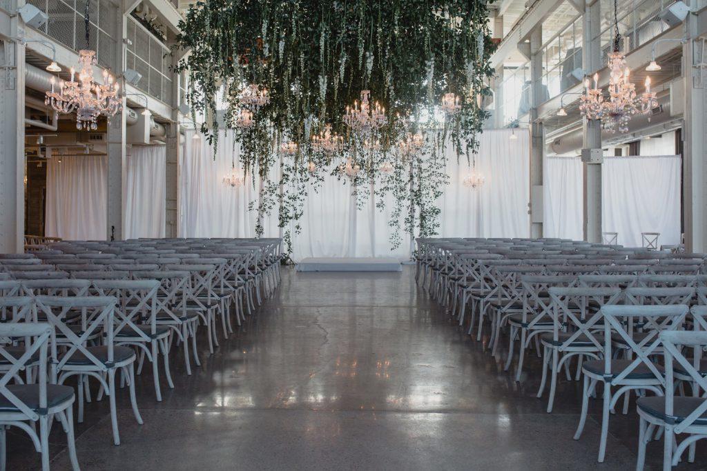 lighting install at wedding