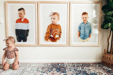 framed photos of children