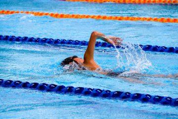 swimmer swimming laps