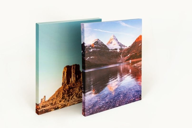 Canvas Prints standing up vertically
